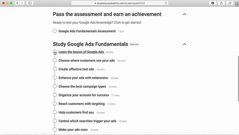 مطالعه در زمینه Google ads