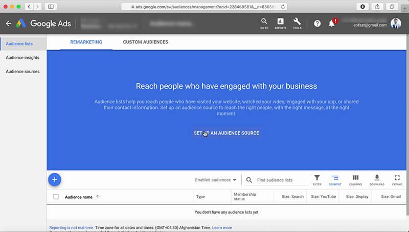 نحوه ایجاد ریمارکتینگ در گوگل ادز