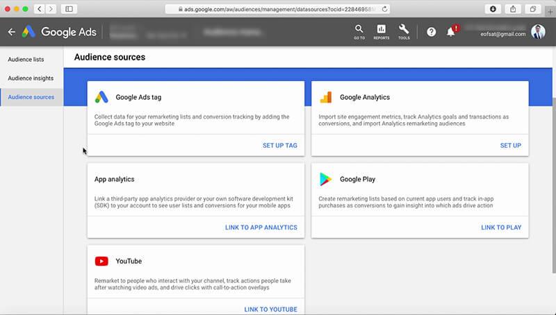 راه اندازی ریمارکتینگ در گوگل ادز