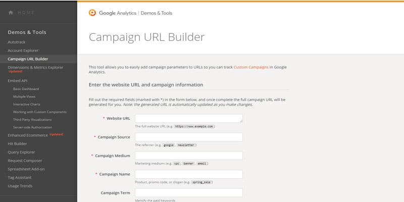 پیگیری کمپین های تبلیغات با URL Builder آنالیتیکس