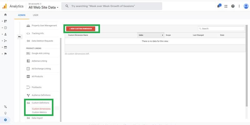 چگونگی ایجاد Custom Dimensions در گوگل آنالیتیکس