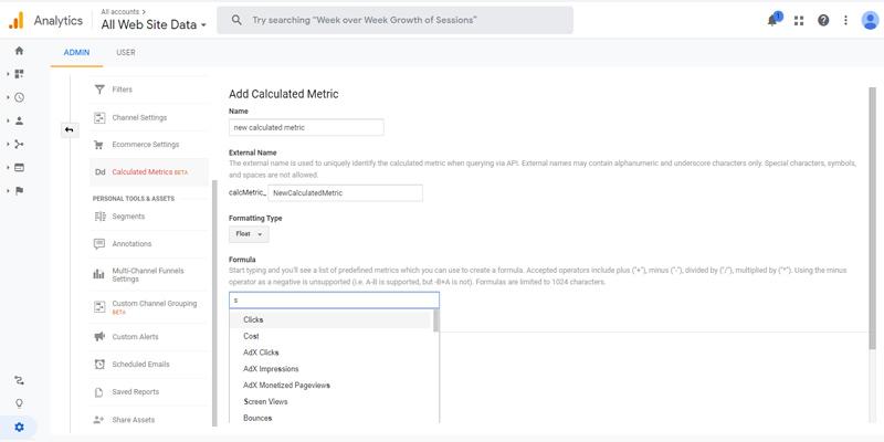 ساخت متریک محاسباتی در گوگل آنالیتیکس