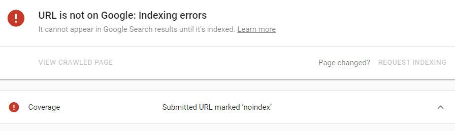 عدم نمایش صفحات در نتایج جستجو - مشکلات ایندکسینگ سرچ کنسول