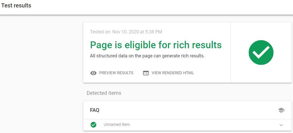 مثالی از آنالیز صفحه برای معتبر بودن Rich results آن و استفاده در سرچ کنسول